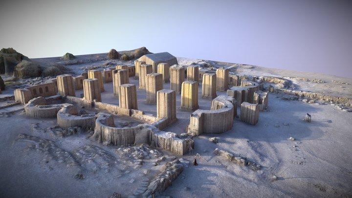 Hisham Palace in Jericho 3D Model