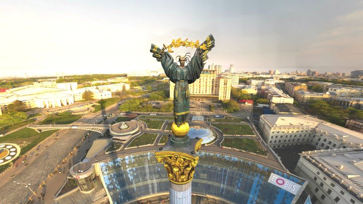 Independence Monument, Kyiv 3D Model