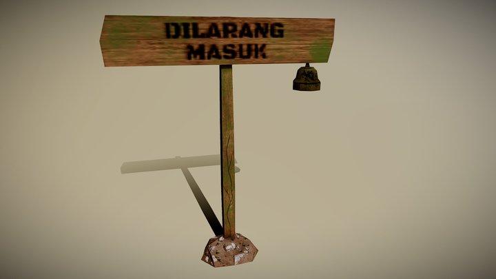 Signage 3D Model