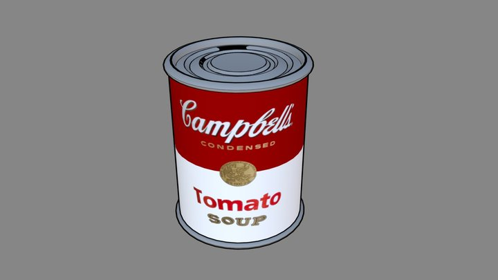 Campbell's Soup by Andy Warhol 3D Model