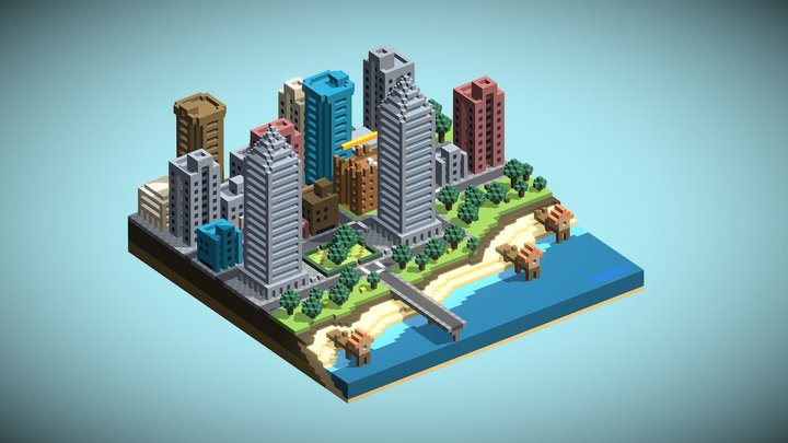 City On The Beach 3D Model
