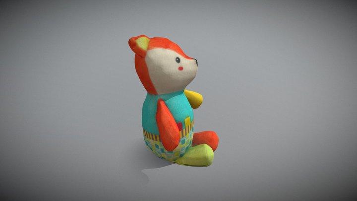 Children toy - Fox plush 3D Model