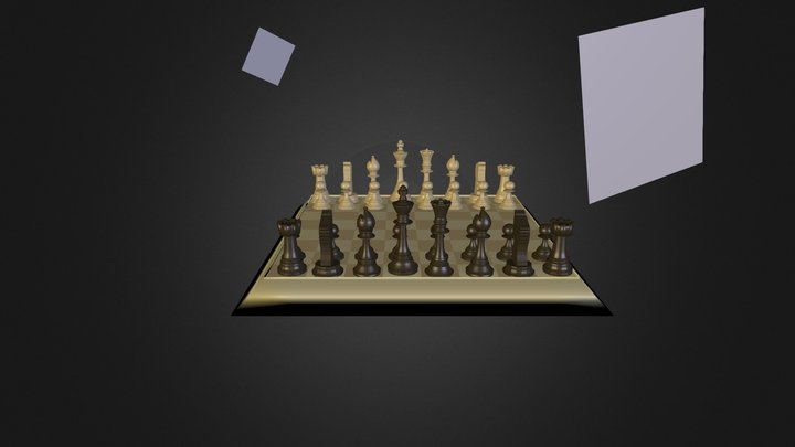 Ajedrez 3D Model