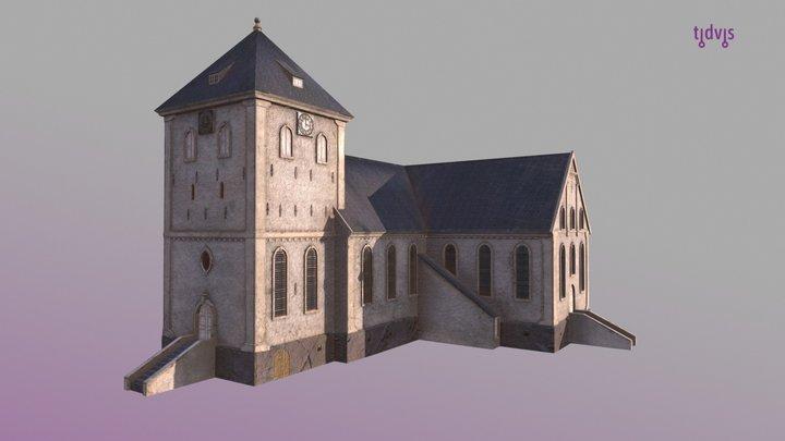 Oslo domkirke 1798 3D Model