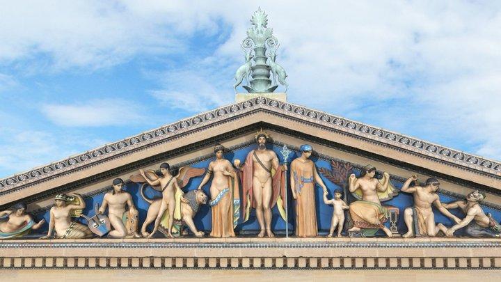 Philadelphia Museum of Art Pediment 3D Model