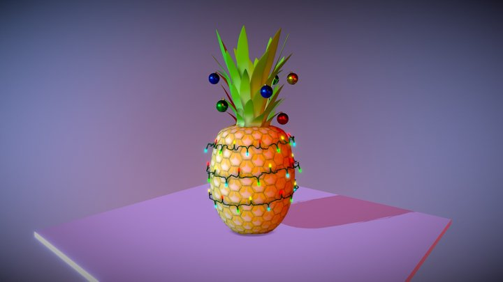 Pineapple Christmas Tree 3D Model
