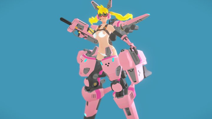 assault slugirl 3D Model