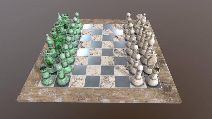 Marble_Chess 3D Model