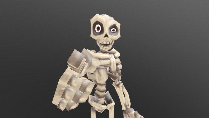 Stylized Skeleton ( Rigged ) 3D Model