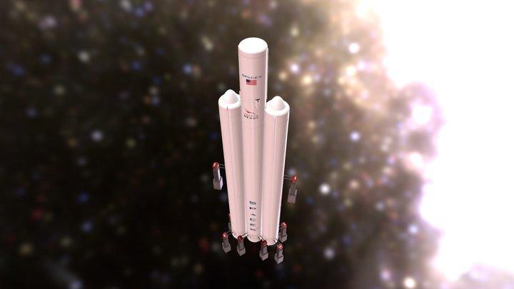 LT SpaceX Falcon Heavy 3D Model