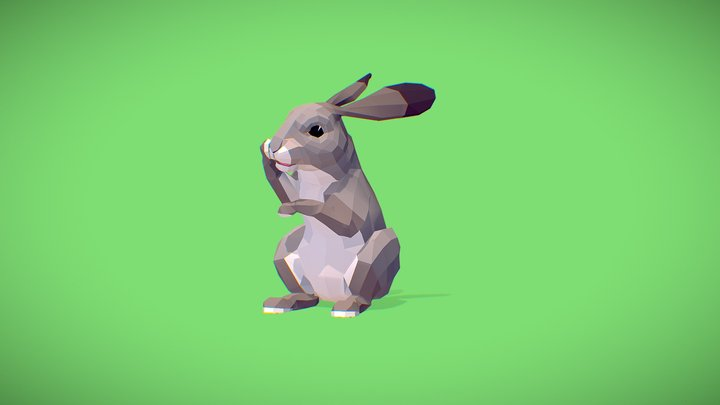 Poly Art Rabbit 3D Model