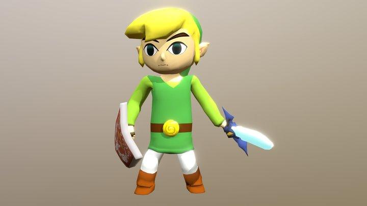 Link Zelda The Wind Waker 3D Model