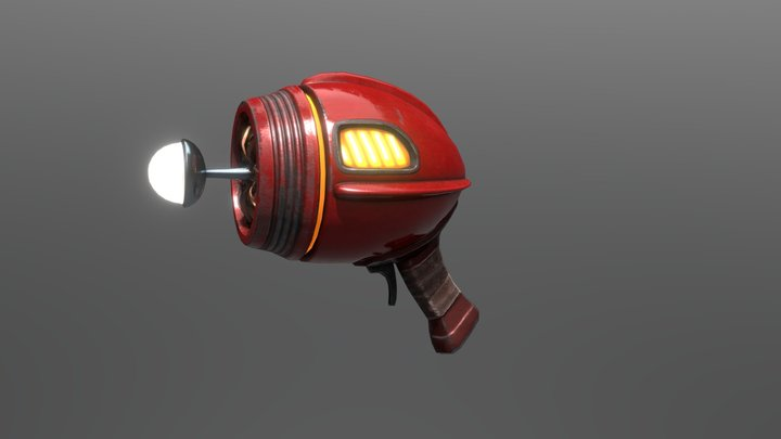 Earthworm Jim: Laser Pistol 3D Model