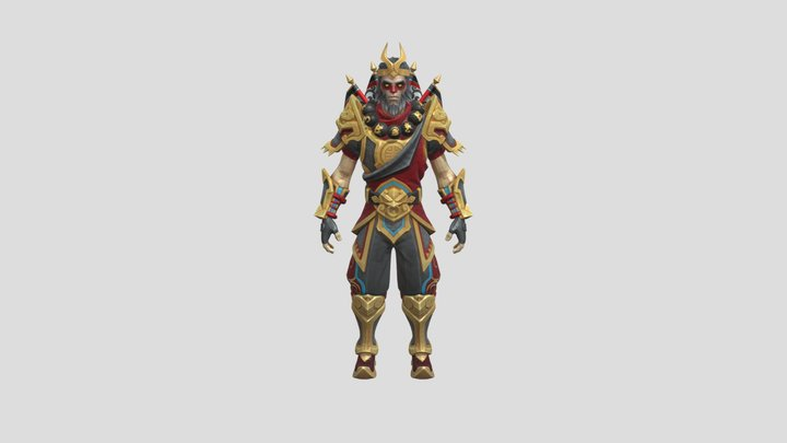 Fortnite Skins - Wukong Outfit 3D Model