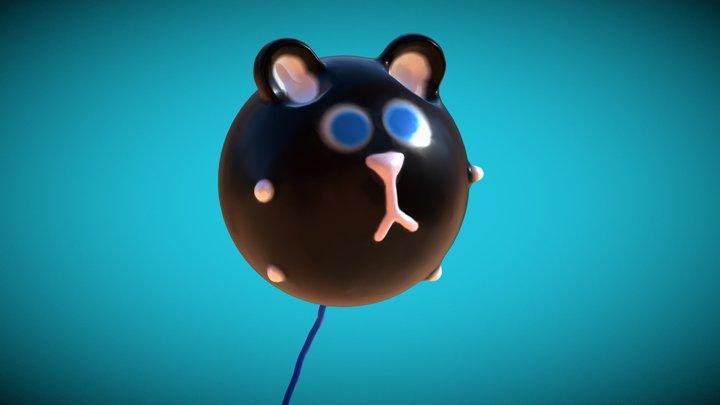Medium | Cat-Balloon 3D Model