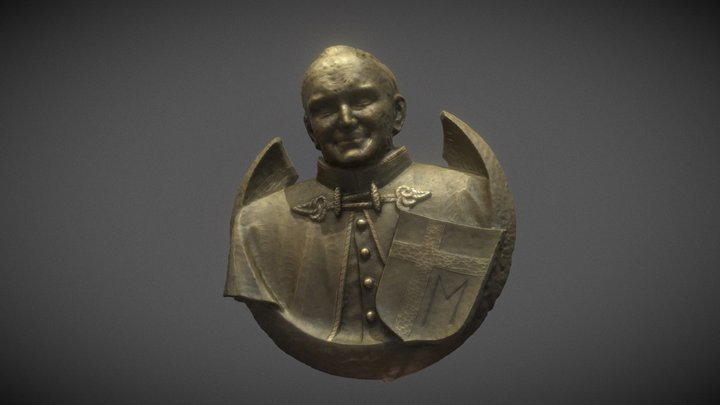 Pope John Paul II, Relief by Siegfried Gross 3D Model
