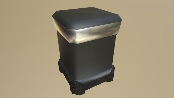 Barrel Met Materials 3D Model