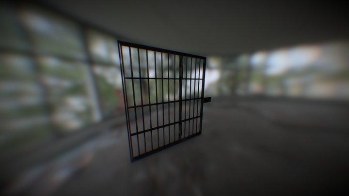 50's prison door 3D Model