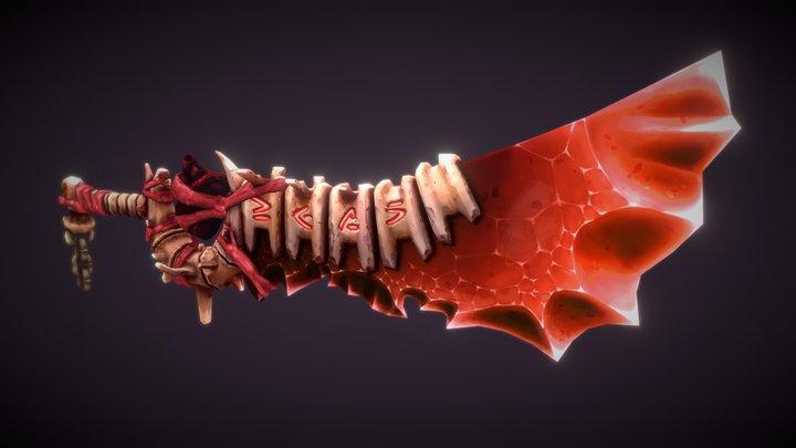HandPainted Demonic Sword 3D Model