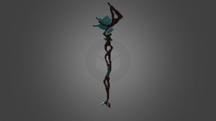 Ice Staff 3D Model