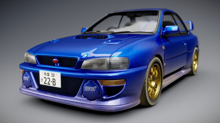 Subaru Impreza WRX STi 22B 3D Model