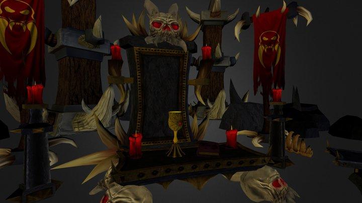 Barbaric Shrine 3D Model