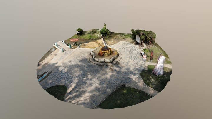 น้ำพุร้อนแม่กาษา 3D Model