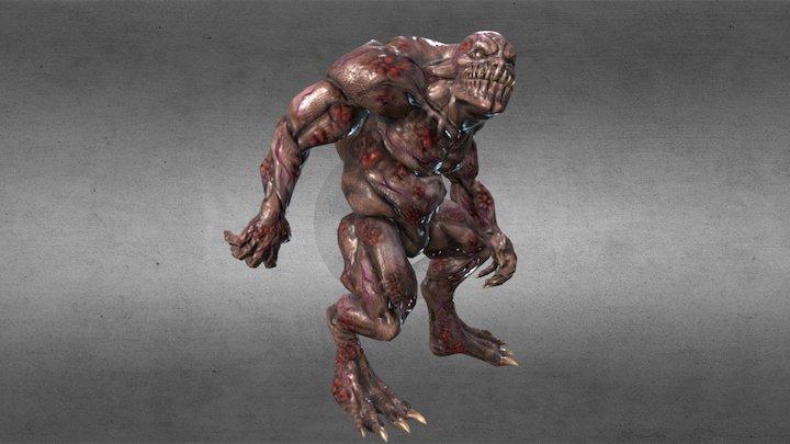 Cavern Troll monster 3D Model