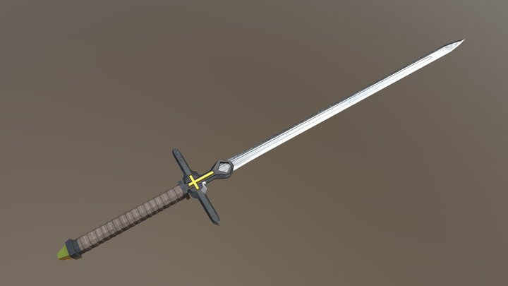 Crusader's Greatsword 3D Model