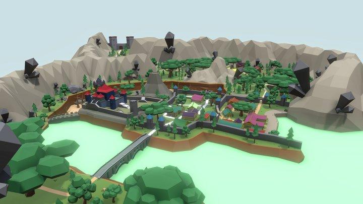LowPoly World 3D Model