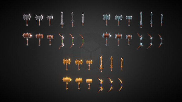 Fantasy Weapons Set 3D Model