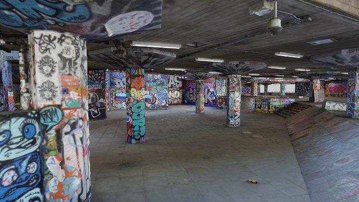 Southbank Undercroft Skatepark 3D Model