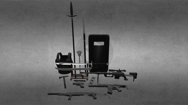 Weapons Package Asset Display WIP 3D Model