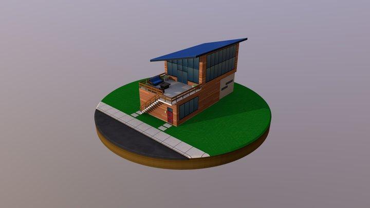 Residential Building 1W2D 3D Model