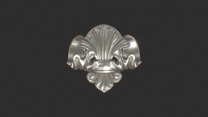 Jewelry - Fleur De Lis Pendant 3D Model