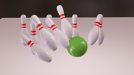 Bowling Alley Action Scene 3D Model