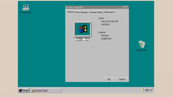 Microsoft Windows 95   98 Interface 3D Model
