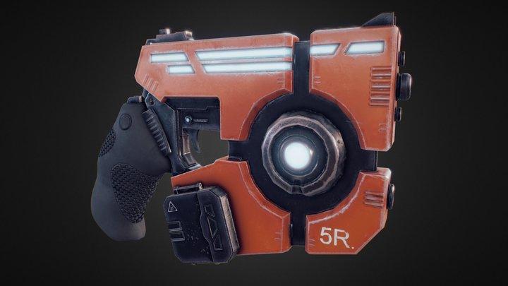 Futuristic Pistol. 3D Model