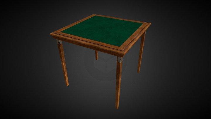 Card Table Wood 3D Model