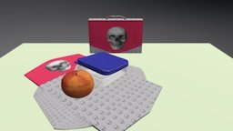 Skulls Flatpack Lunchbox 3D Model