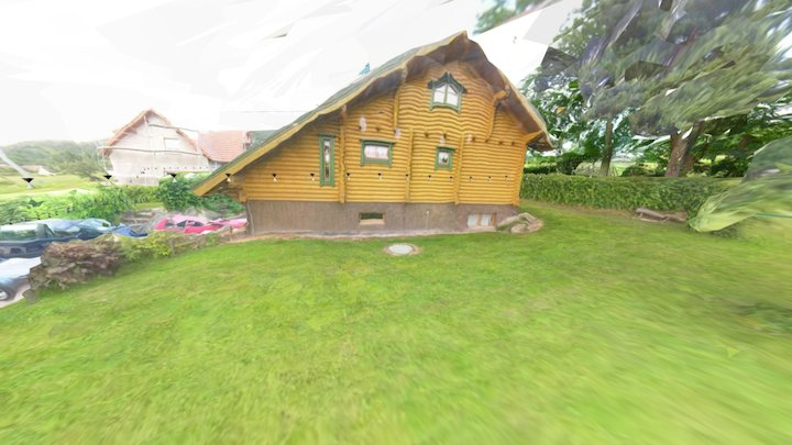 Immersive model of a chalet and its garden 3D Model