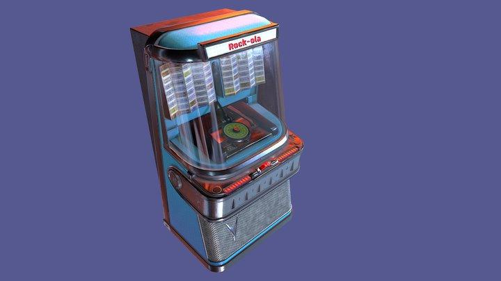 Antique vintage retro music Jukebox Rockola 3D Model
