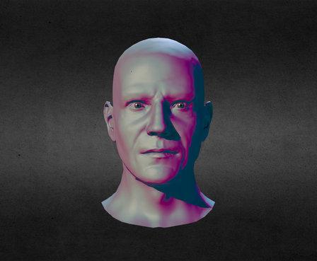 Male Head / Face WIP 3D Model