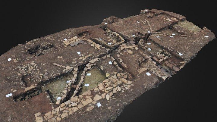 Roman villa  Hypocaust - post-excavation 3D Model
