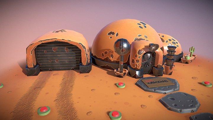 Stylized Desert House 3D Model