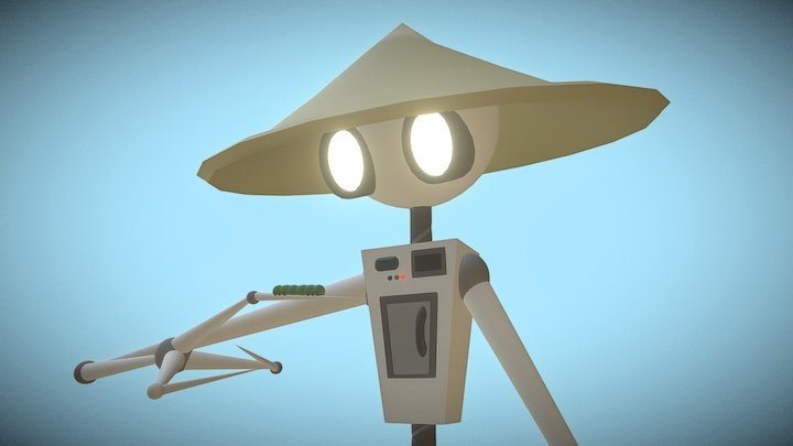 Robot Dude 3D Model