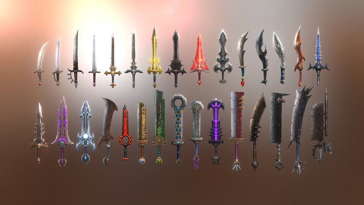 Fantasy Armory - Sword Collection Vol.1 3D Model
