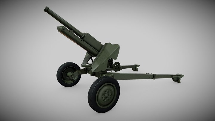 """76 mm Mountain Gun M-99 """"2A2"""" 3D Model"""