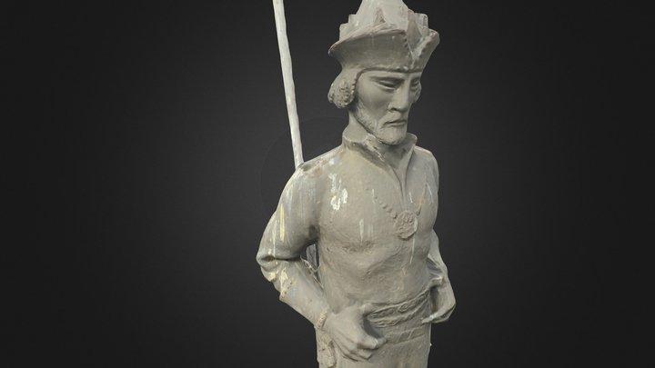Géza fejedelem szobra 3D Model