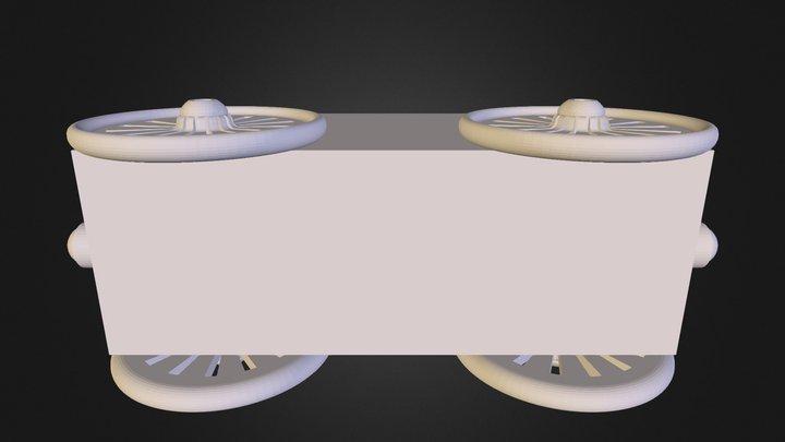 Custom Train Car Assembly 3D Model
